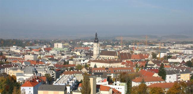 La città di Sankt Pölten, nella Bassa Austria