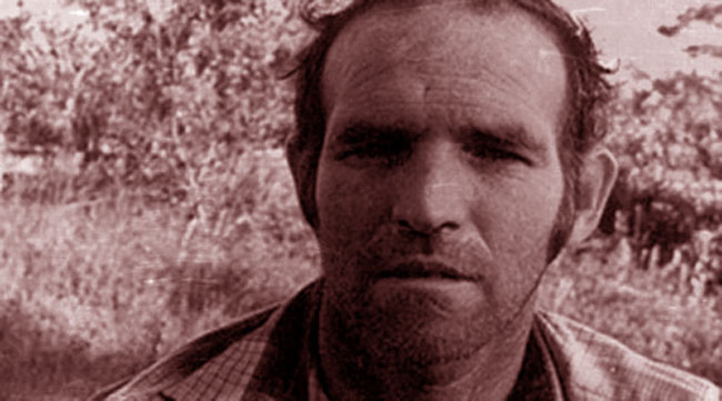 Un primo piano del serial killer Ottis Toole