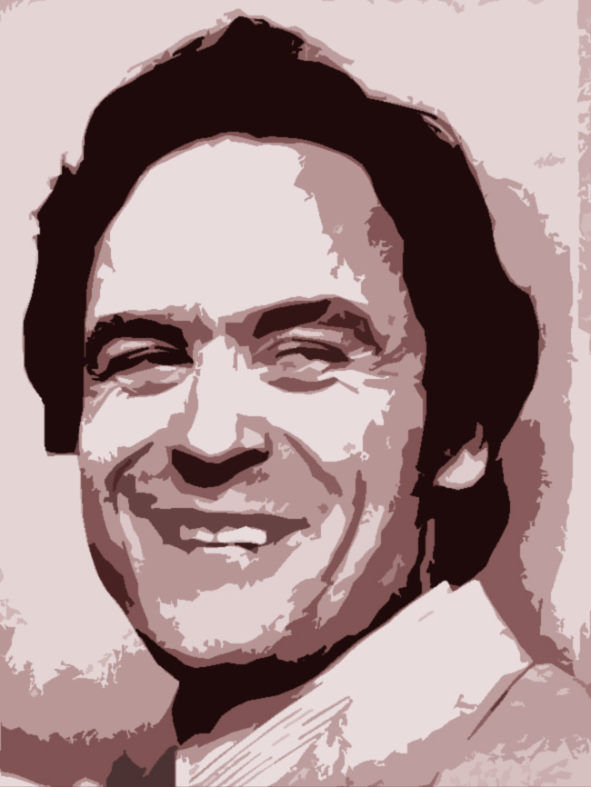 Una foto elaborata di Ted Bundy