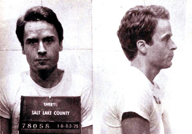 Ted Bundy, foto all'arresto nel 1975