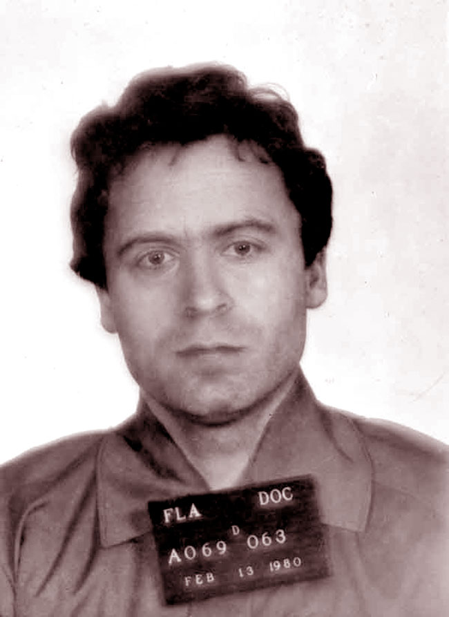 Ted Bundy, foto all'arresto nel 1980