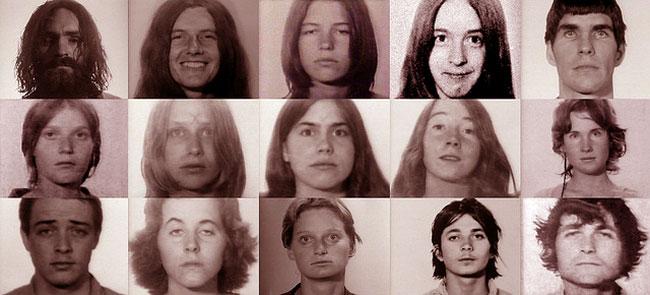 Una foto della famiglia di Charles Manson