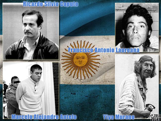Le foto di alcuni famosi serial killer argentini: Caputo, Laureana, Murano, Antelo