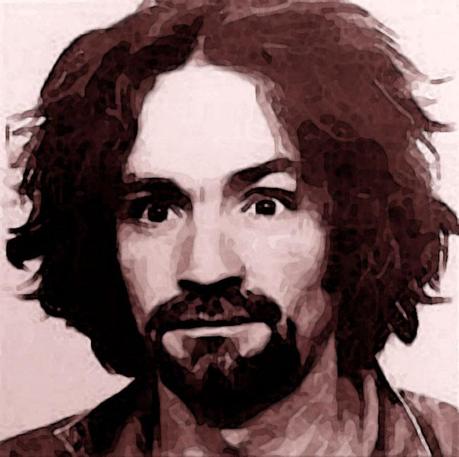 Una foto di Charles Manson, serial killer per induzione