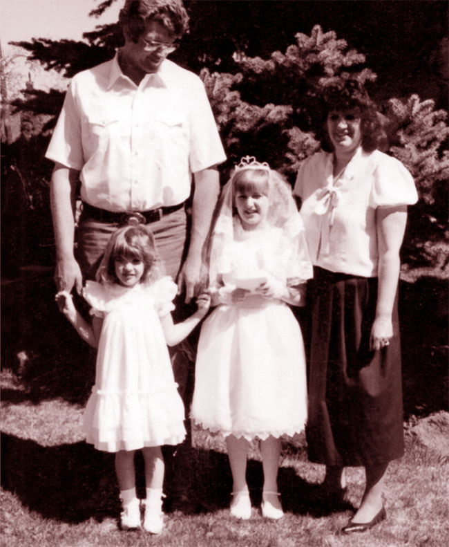 Una foto dell'assassino seriale canadese Keith Hunter Jesperson con la famiglia